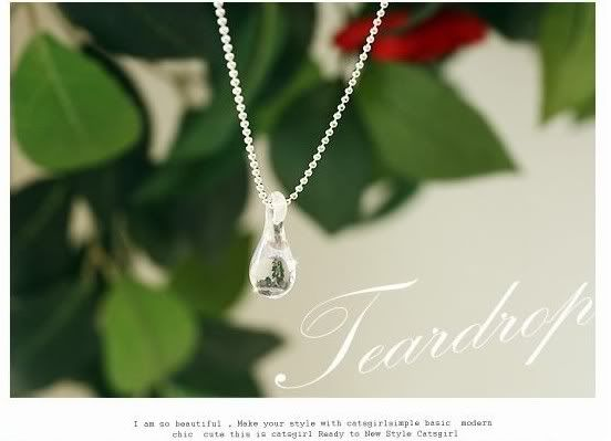 Korean Drama 49 days Tear Drop Innocent Love Necklace with Tears