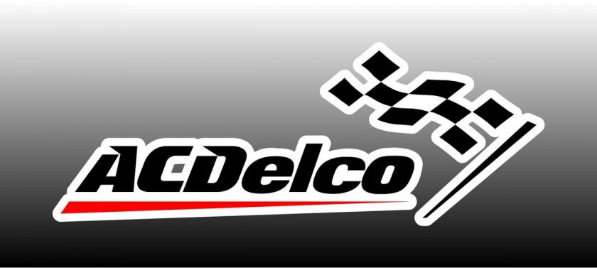 AC Delco With Flag Logo 4 Wide Bumper Sticker Decal