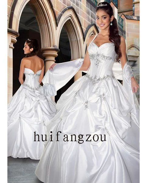 Perfect Halter Style Bridal Wedding Prom Dress Gown