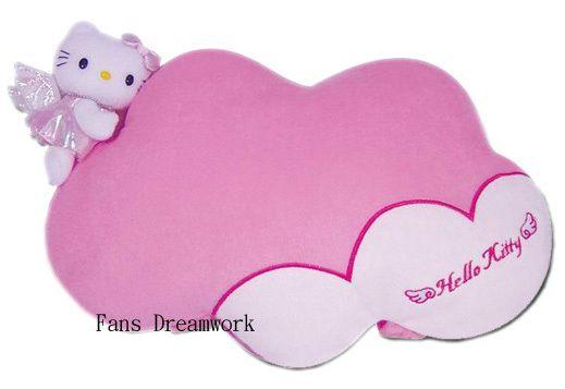 Sanrio Hello Kitty Plush Pillow Car Headrest   cloud