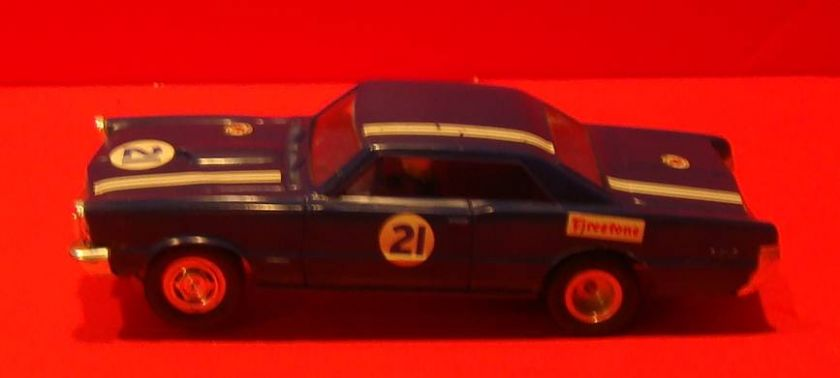 Vintage Slot Cars 1960s Rare Blue 1965 GTO 1/32 K&B Slot Car
