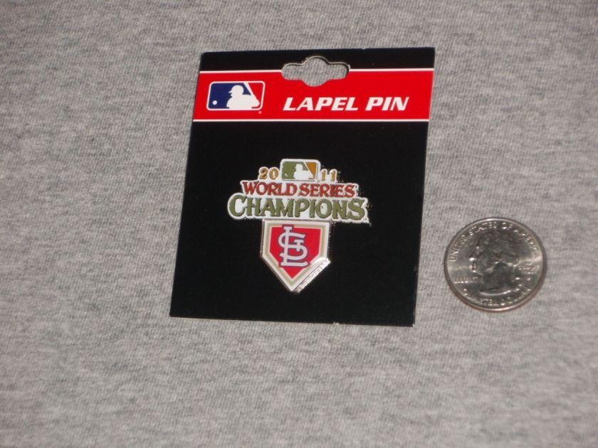 2011 World Series Champions St Louis Cardinals Pin Basic Small Lapel